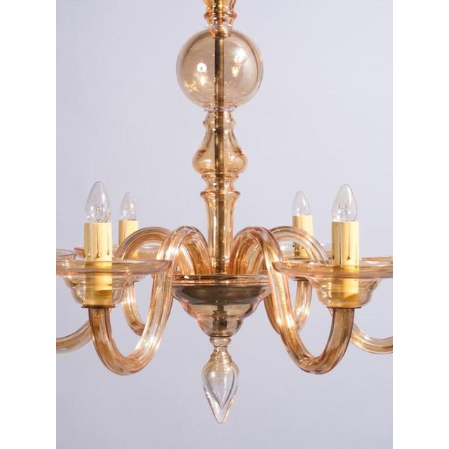 1940s italian amber glass murano chandelier chairish 1940s 1940s italian amber glass murano chandelier for sale image 5 of 13 aloadofball Image collections