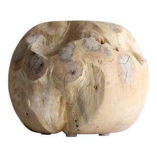 Minimalist Teak Wood Sphere For Sale