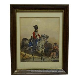 """""""Red Jacket Officer"""" Framed & Matted Print For Sale"""