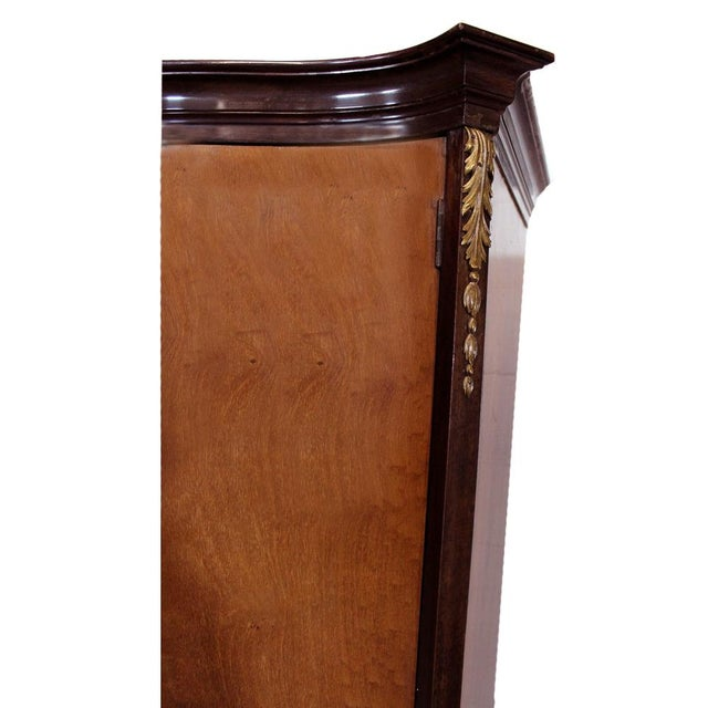 Gold Louis XV Bronze Banded Armoire For Sale - Image 8 of 10