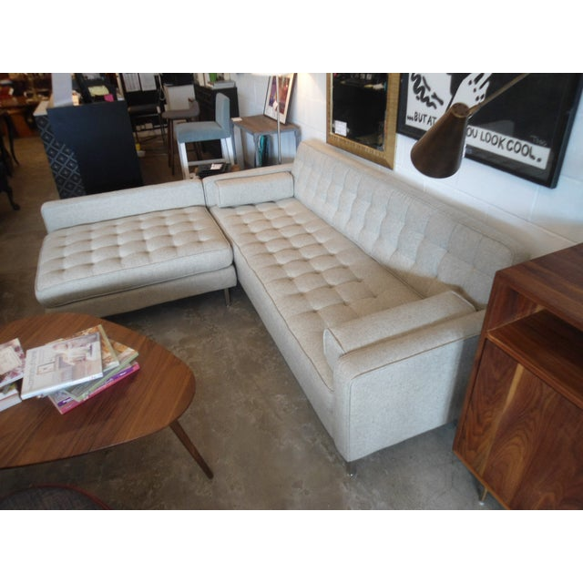 """Gus Spencer Loft Bi-Sectional in """"Leaside Driftwood"""" Colorway For Sale - Image 4 of 8"""