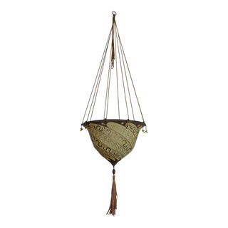 Fortuny Silk Pendant With Silk Tassel For Sale