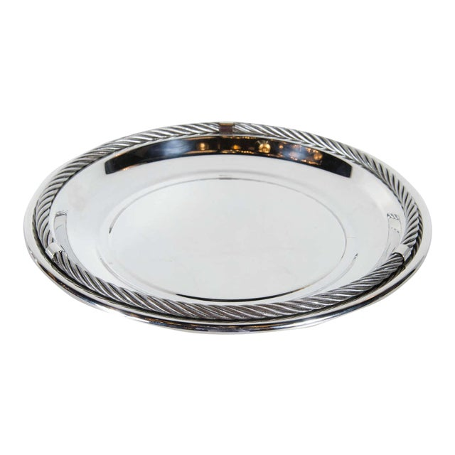 Stunning Mid-Century Modernist Tray in Silver-Plate by Christian Dior For Sale