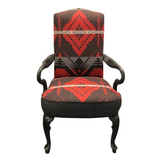 Ralph Lauren Blackstone River Cochineal Red/Grey Cashmere Chair