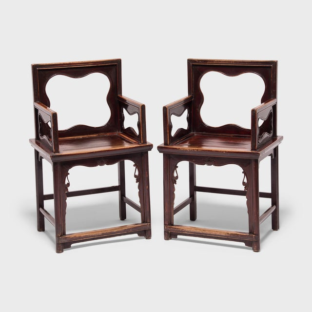 19th Century Chinese Rose Chairs - a Pair For Sale - Image 12 of 12