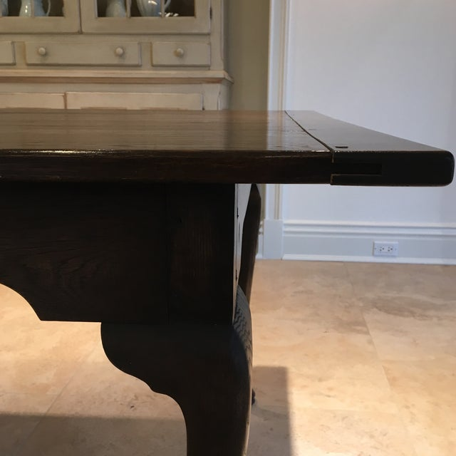 Oak Custom English Oak Dining Table For Sale - Image 7 of 11