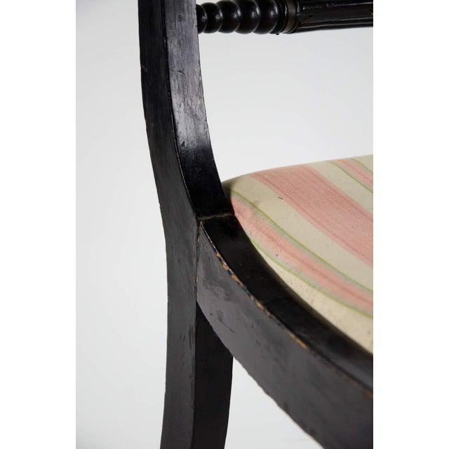 Black Early American Hitchcock Style Dining Chairs - Set of 6 For Sale - Image 8 of 12