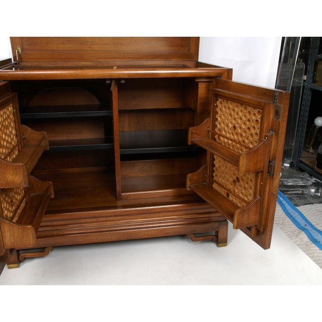 Signed Pierre Bartet Walnut Bar Cabinet - Image 9 of 11