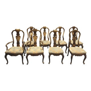 Karges Tortoiseshell Dining Chairs - Set of 8