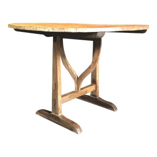 French Wine Tasting Round Dining Tilt-Top Table For Sale