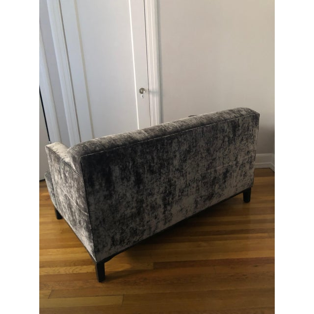 Late 20th Century Mid-Century Modern Milo Baughman Style Settee For Sale - Image 5 of 7