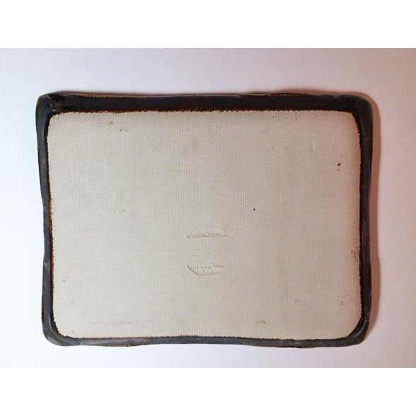 Hong Rubinstein Macro Crystalline Glazed Plate/Tray For Sale - Image 5 of 5