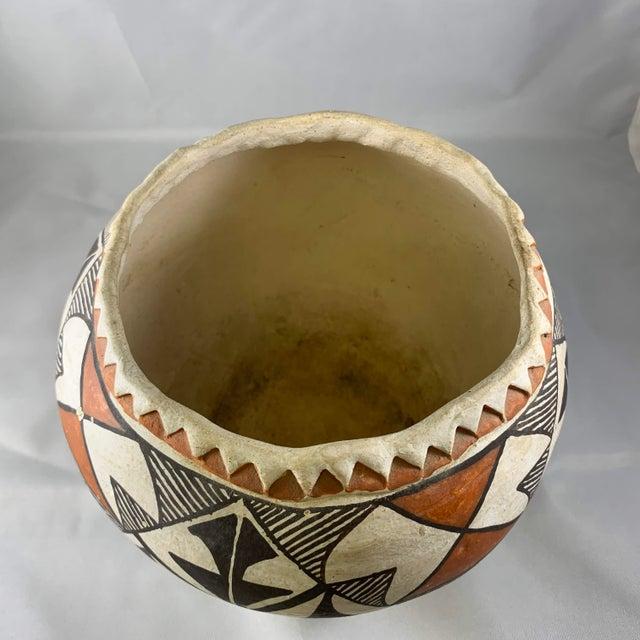 Ceramic Southwestern Acoma Olla Polychrome Pottery For Sale - Image 7 of 11