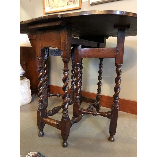 17th Century Circa 1680 English Barley Twist Gate Leg Table For Sale In Minneapolis - Image 6 of 13