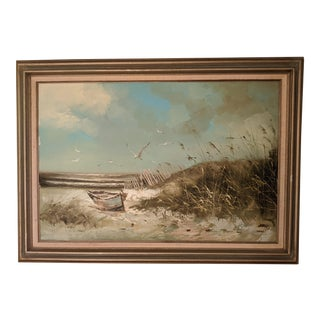 Vintage Nautical H. Gailey Oil Painting Seascape For Sale