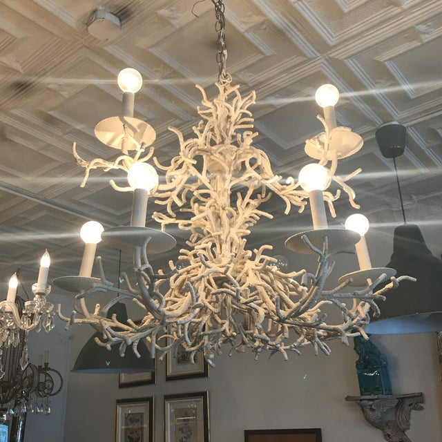 This vintage coral chandelier is absolutely perfect. There are many reproductions and cheap copies out there. This isn't...