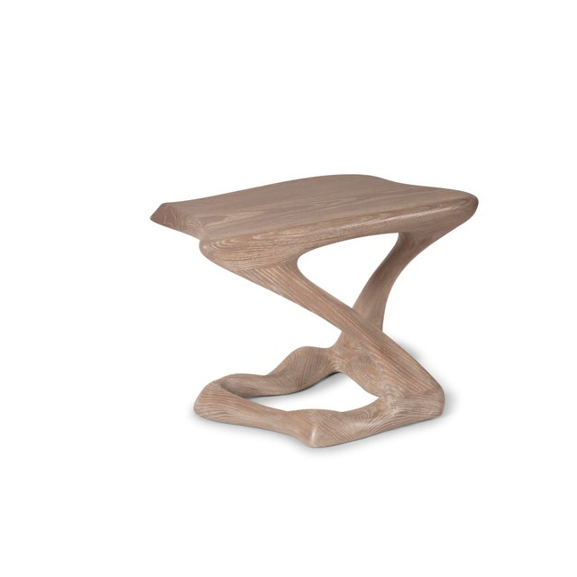 Amorph Amorph Tryst Side Table in Gray Custom Stain For Sale - Image 4 of 9