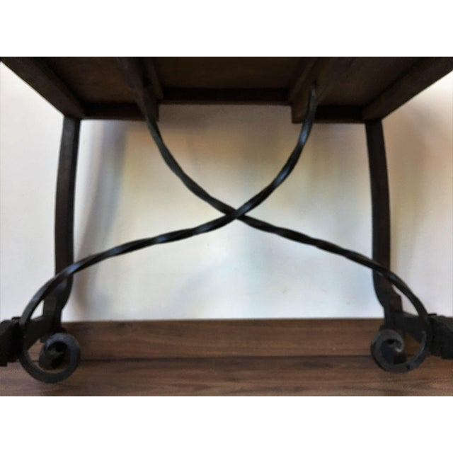 Exceptional Spanish 19th century side table with three drawers - Image 6 of 10