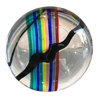 Livio Seguso for Oggetti Colorful Glass Sculpture For Sale