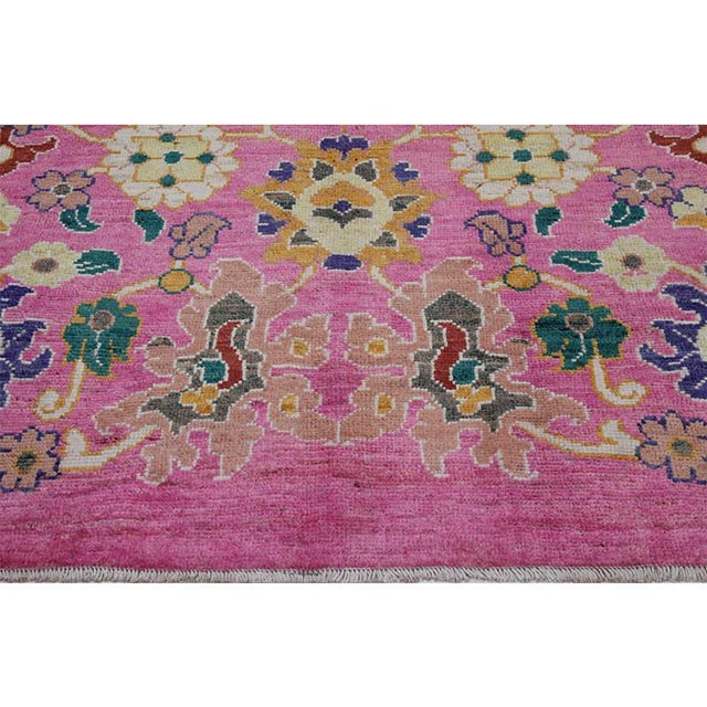 """Traditional Handwoven Turkish Oushak Rug - 8'2""""x10'7"""" For Sale - Image 9 of 12"""