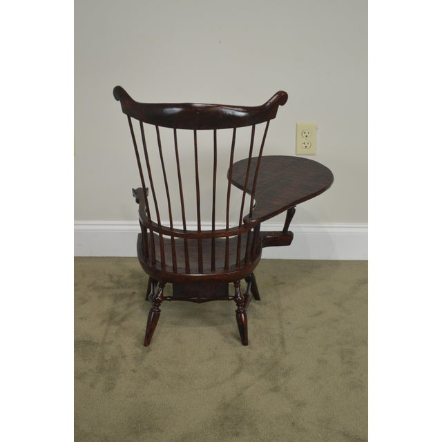 Windsor Style Miniature Childs Writing Arm Chair by K. Malone (18th Century Reproduction) For Sale - Image 10 of 13