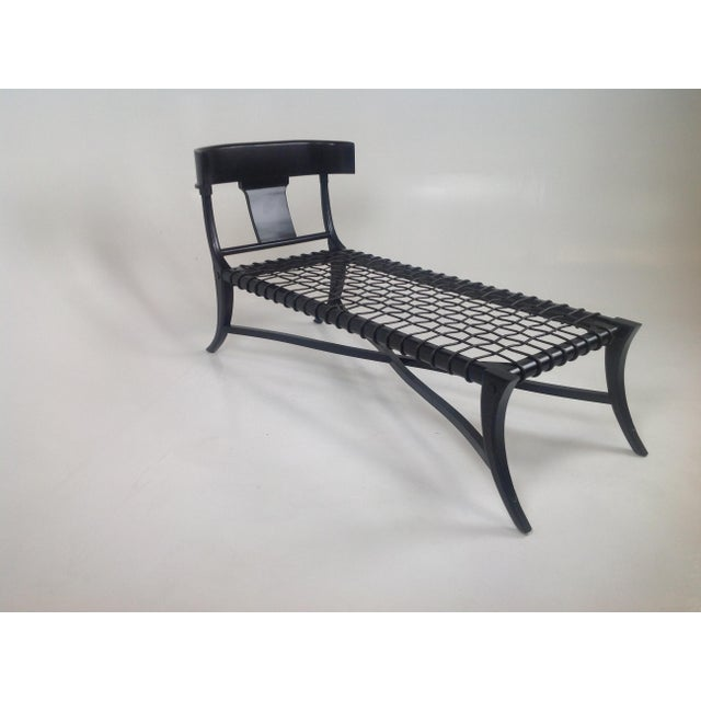 Espresso Klismos Style Chaise For Sale In San Diego - Image 6 of 6
