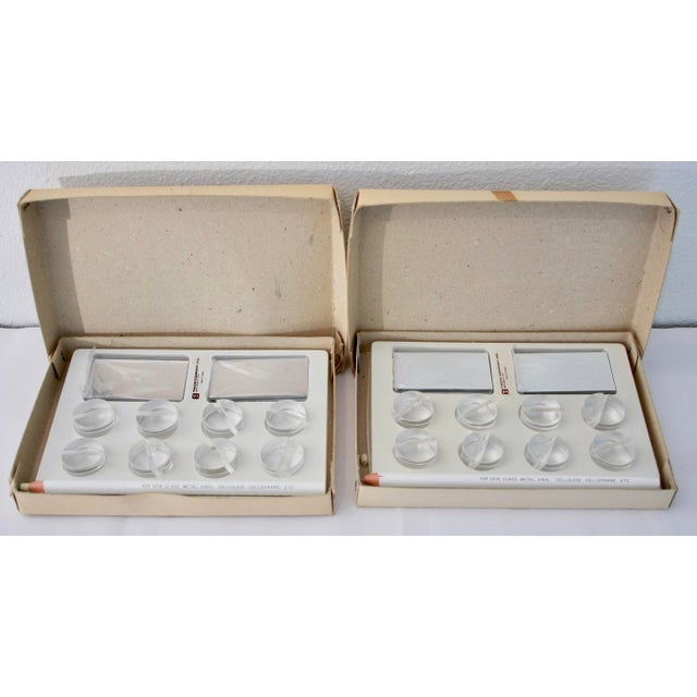 1960s Lucite Dinner Place Cards with Stands - Set of 16 - Image 9 of 10