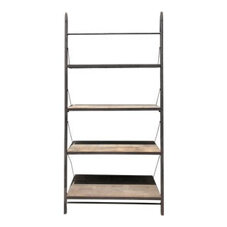 Contemporary Restoration Hardware Reclaimed Elm and Iron Shelving
