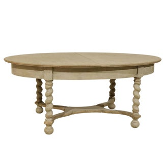 Swedish Baroque Style Oval Table From the Mid-20th Century For Sale