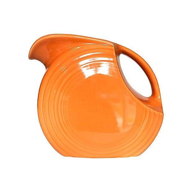 Tangerine Orange Fiesta Ware Disc Pitcher For Sale In Seattle - Image 6 of 6