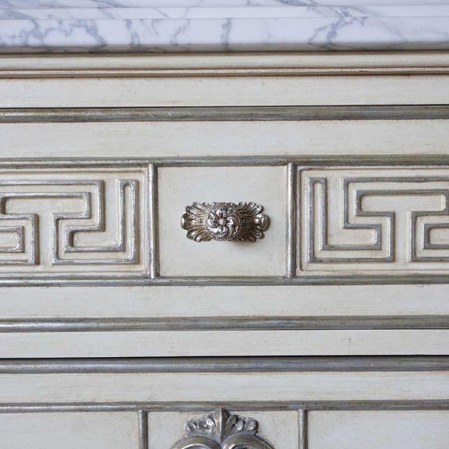 Early 21st Century Hollywood Regency Ebanista Villa Lorenzo Painted Marble Top Chest For Sale - Image 5 of 8