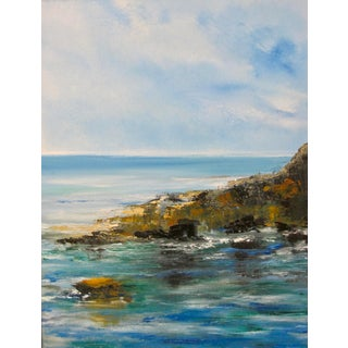 California Seascape Coastal Oil Painting Signed Ivan Trifonoff For Sale