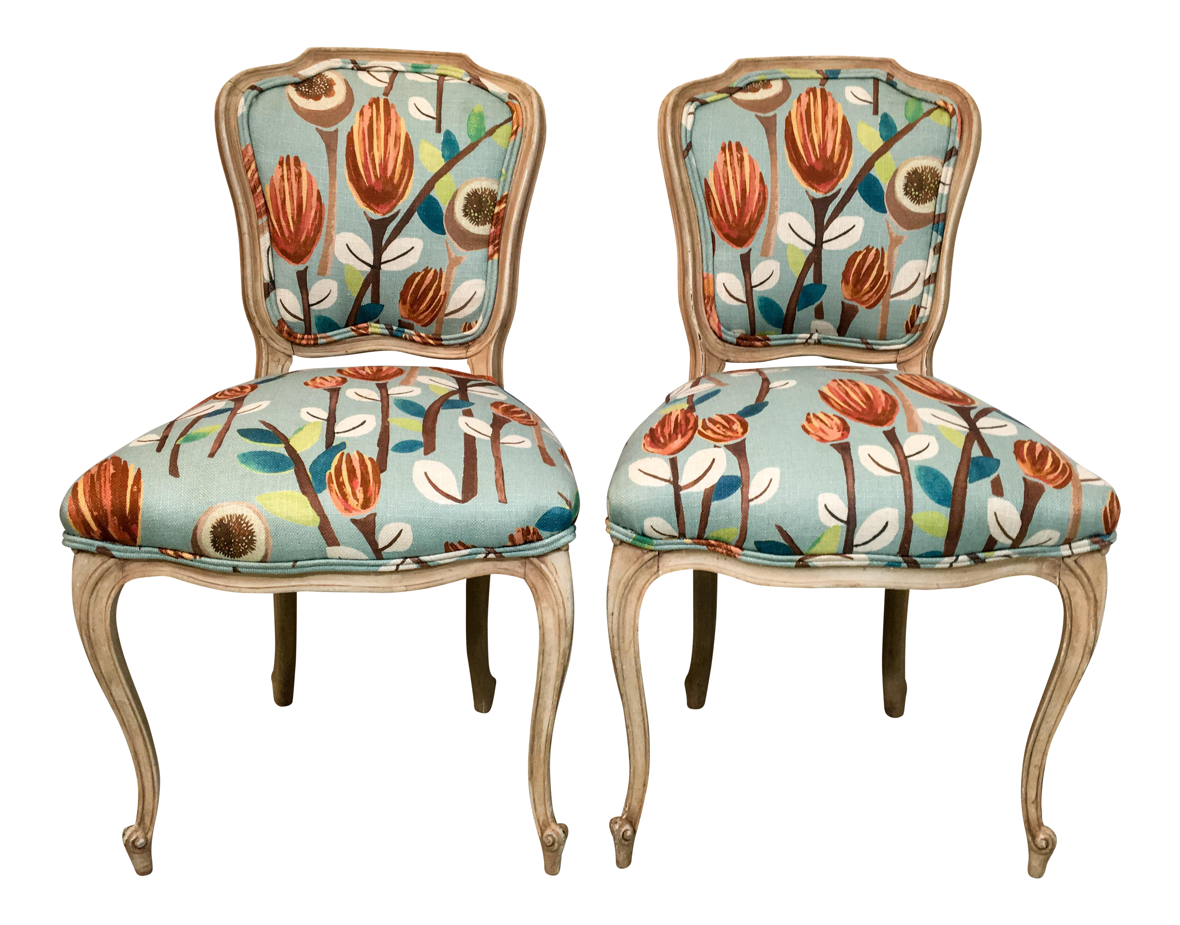 French Provincial Side Chairs   A Pair