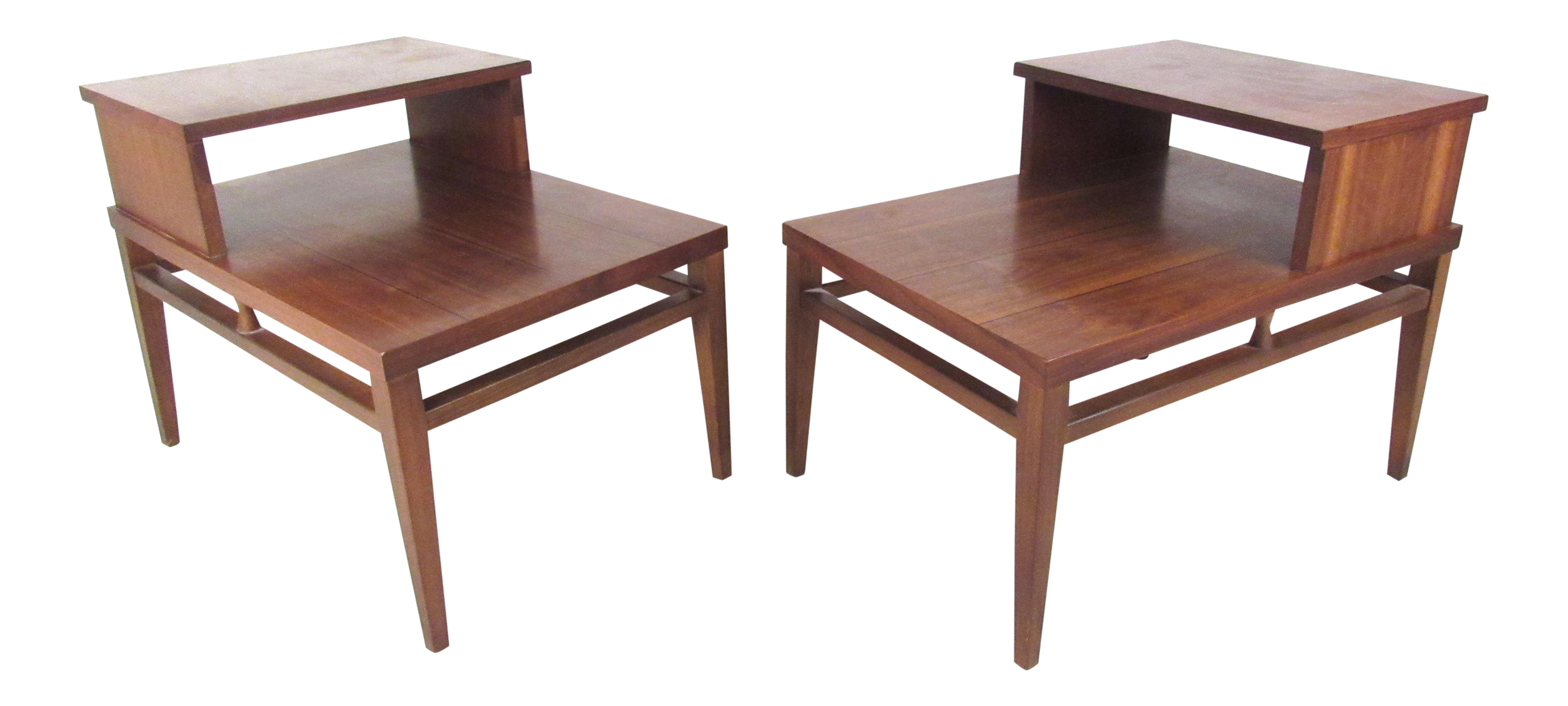 Mid Century Modern Two Tier End Tables By Lane Chairish