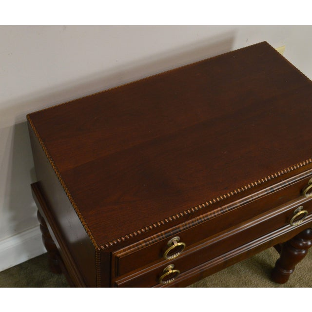 Brown Sherrill Occasional Small Cherry One Drawer Side Table For Sale - Image 8 of 12