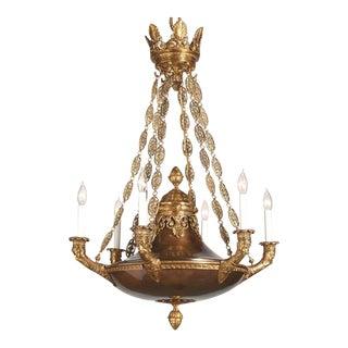 Myran Allen Luxury Lighting Classical Empire Style Italian Bronze Chandelier For Sale