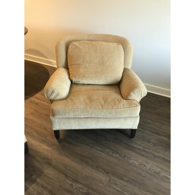 Cotton 1990s Pearson Club Chair and Ottoman Restyled in Ralph Lauren Khaki Fabric For Sale - Image 7 of 13