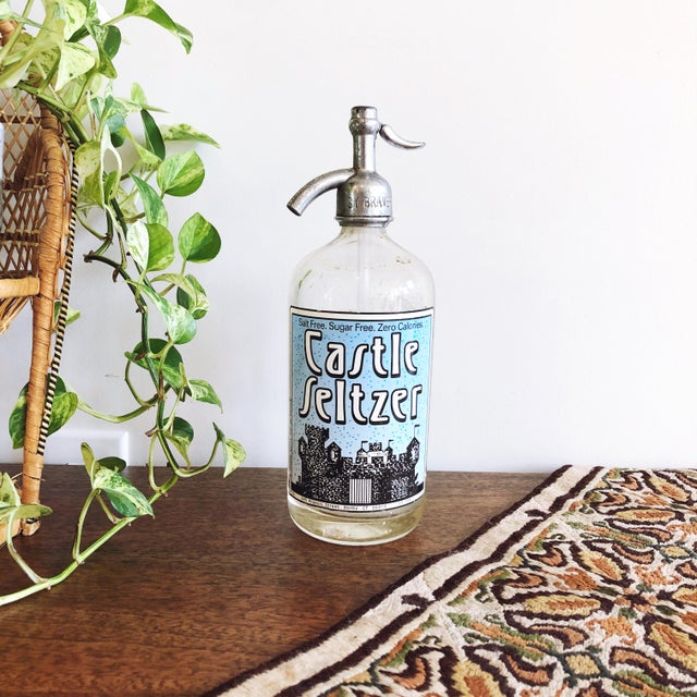 Vintage Glass Seltzer Bottle For Sale In Austin - Image 6 of 6