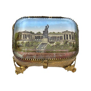 Antique French Ring Box with Munich Scene For Sale