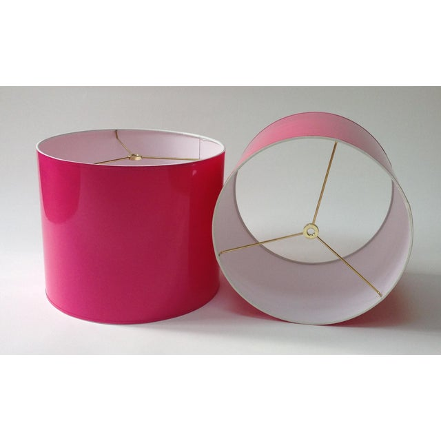 """Made To Order: 1-2 week lead time Individually hand-made Color: Pink (Pantone 214) Size: Diameter: 16"""" Height 11""""..."""