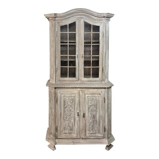 19th Century Country French Louis XVI Stripped Bookcase ~ Vitrine For Sale