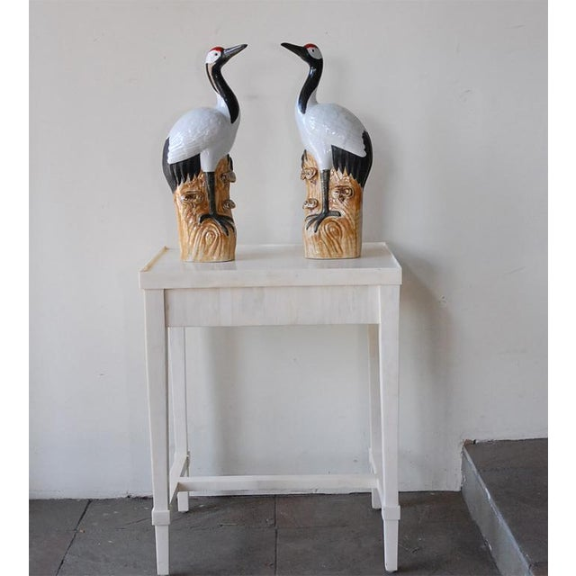 Pair of Chinese Porcelain Cranes - Image 3 of 10