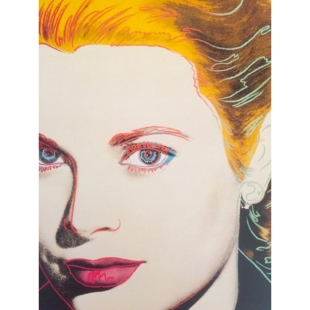 "Paper Andy Warhol Estate Vintage 1989 Pop Art Lithograph Print "" Grace Kelly "" 1984 For Sale - Image 7 of 10"