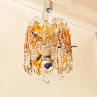 Mid Century Amber Glass Chandelier Preview