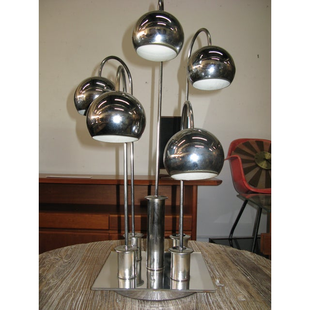 Robert Sonneman Chrome Ball Waterfall Lamp - Image 5 of 11