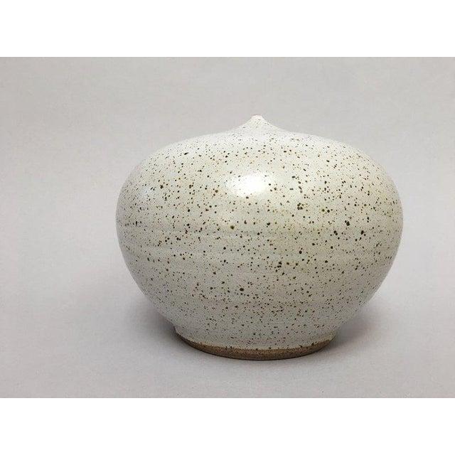 Closed Form Vase Studio Pottery Ceramic Vessel For Sale - Image 10 of 10