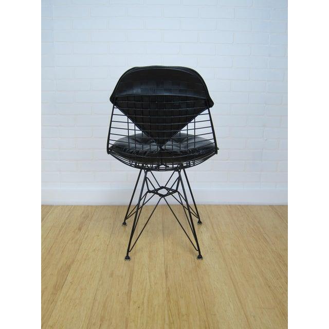 Mid-Century Eames Black Vinyl DKR Bikini Pad Chair | Chairish