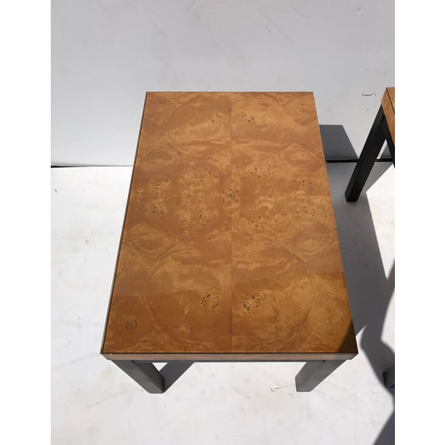 Milo Baughman Burl Wood Side/ End Tables - A Pair - Image 9 of 10