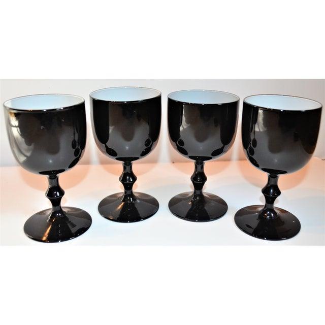 Black 1960s Carlo Moretti Italian Cased Stemware - Set of 4 For Sale - Image 8 of 8
