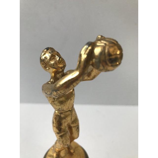 Metal Vintage Basketball Trophy For Sale - Image 7 of 9